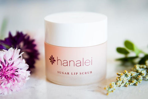 Hanalei Company Sugar Lip Scrub with Island Flowers