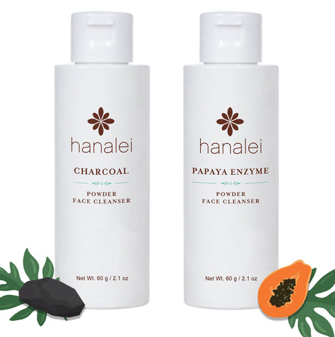 Hanalei Company Charcoal Powder Face Cleanser and Papaya Enzyme Powder Face Cleanser