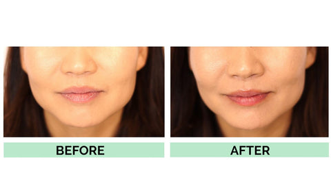 Smooth Lips Shown On Model After Using Hanalei Company Kukui Oil Products