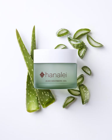 Island Aloe Gel by Hanalei company with Aloe Vera Plant