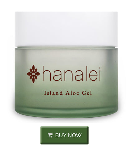 Buy Island Aloe Gel for the face to soothe sunburns from a day at the beach