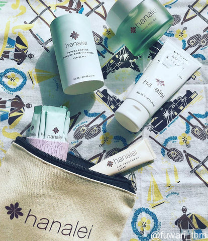 Hanalei Company products with Hanalei pouch