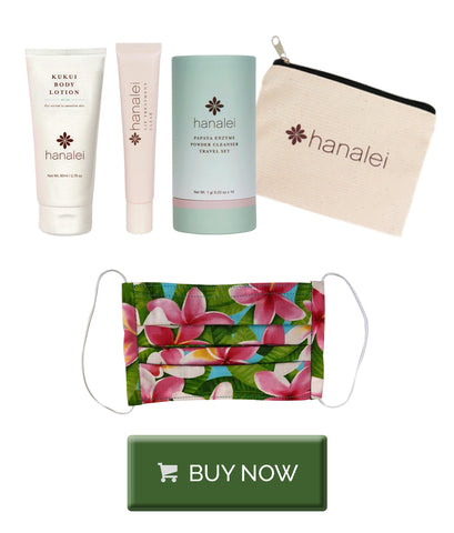 Hanalei Sasha Travel skincare set is the perfect gift for her Christmas 2020