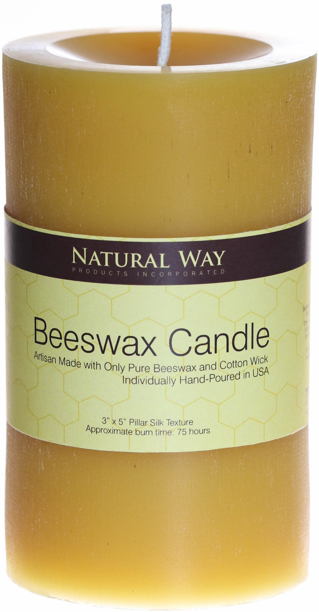 100% Pure Beeswax Candle 3x5''