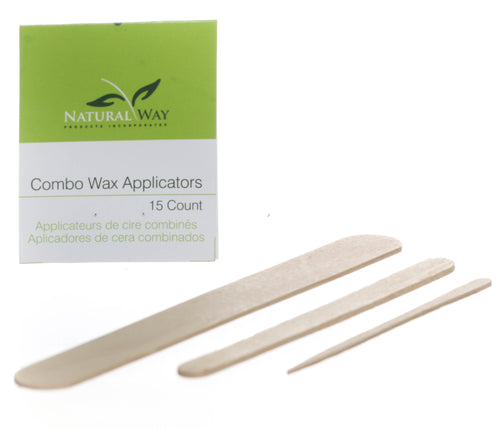 Combined Wax Applicators (5 Eyebrow, 5 Facial, 5 Body)
