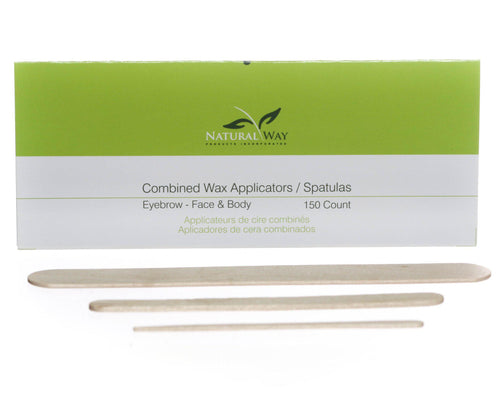 Combo Wax Applicators (50 Eyebrow, 50 Facial, 50 Body)