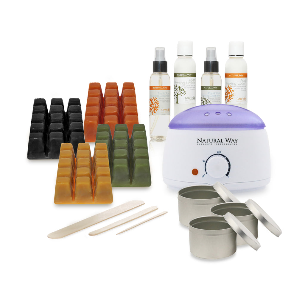 Professional Hard Wax Warmer Kit All Formulas - 100% Natural.
