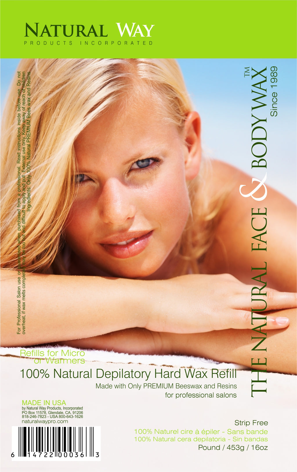 "Wax n Waxing Depilatory Hard Wax - Refill by Pound 16oz/453g  ""Original Formula"""