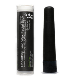 "Hard Wax Facial Stick On the GO! ""Activated Charcoal Formula"" 100% Natural - Travel-Touch Ups!Facial Stick Activated Charcoal"