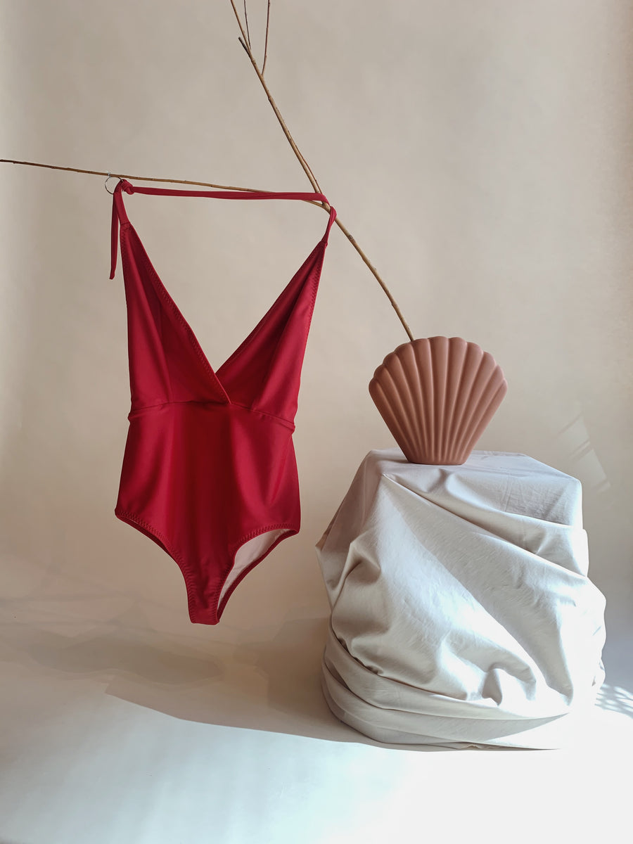Doucement Red Bathing suit