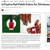 12 Festive Nail Polish Colors for Christmas