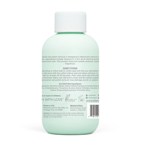 Soy Nail Polish Remover - Unscented - 4 oz