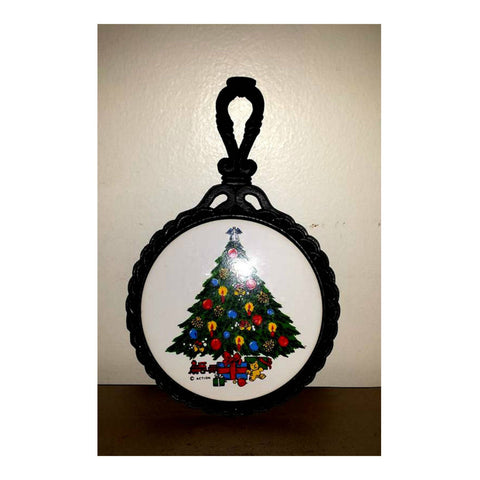 Vintage Christmas Tree Cast Iron Trivet