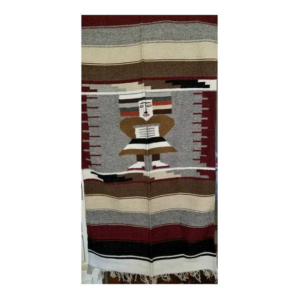"Vintage Mayan Wall Tapestry Blanket,Serape,BOHO,60"" LONG x 30"" WIDE"