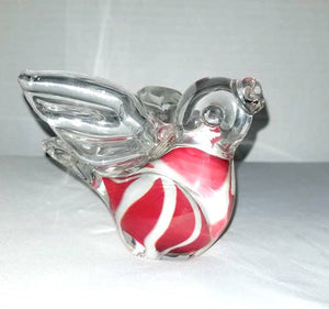 Hand Blown Glass Bird Paperweight,Art Glass