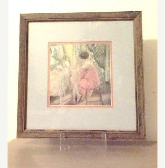 Flapper Vanity Litho,Matted and Framed,Wall Decor, Boudoir