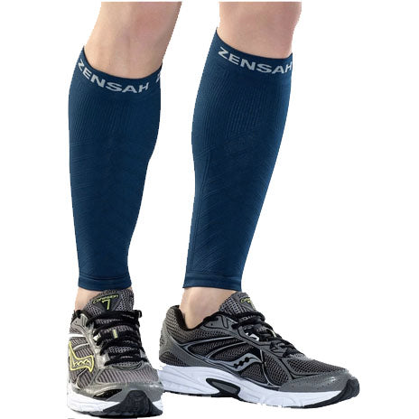 ZENSAH COMPRESSION LEG SLEEVES NAVY