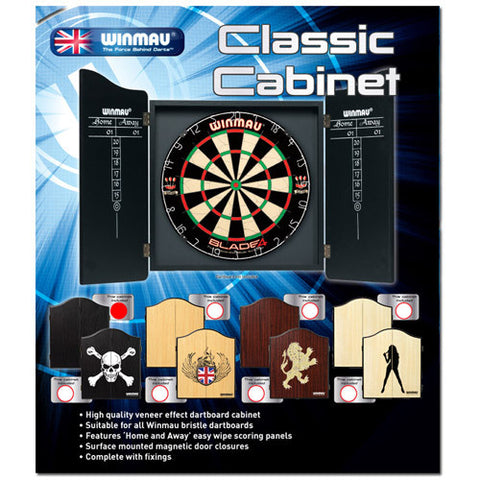 WINMAU BLACK DARTBOARD CABINET – KW BUY AND SELL