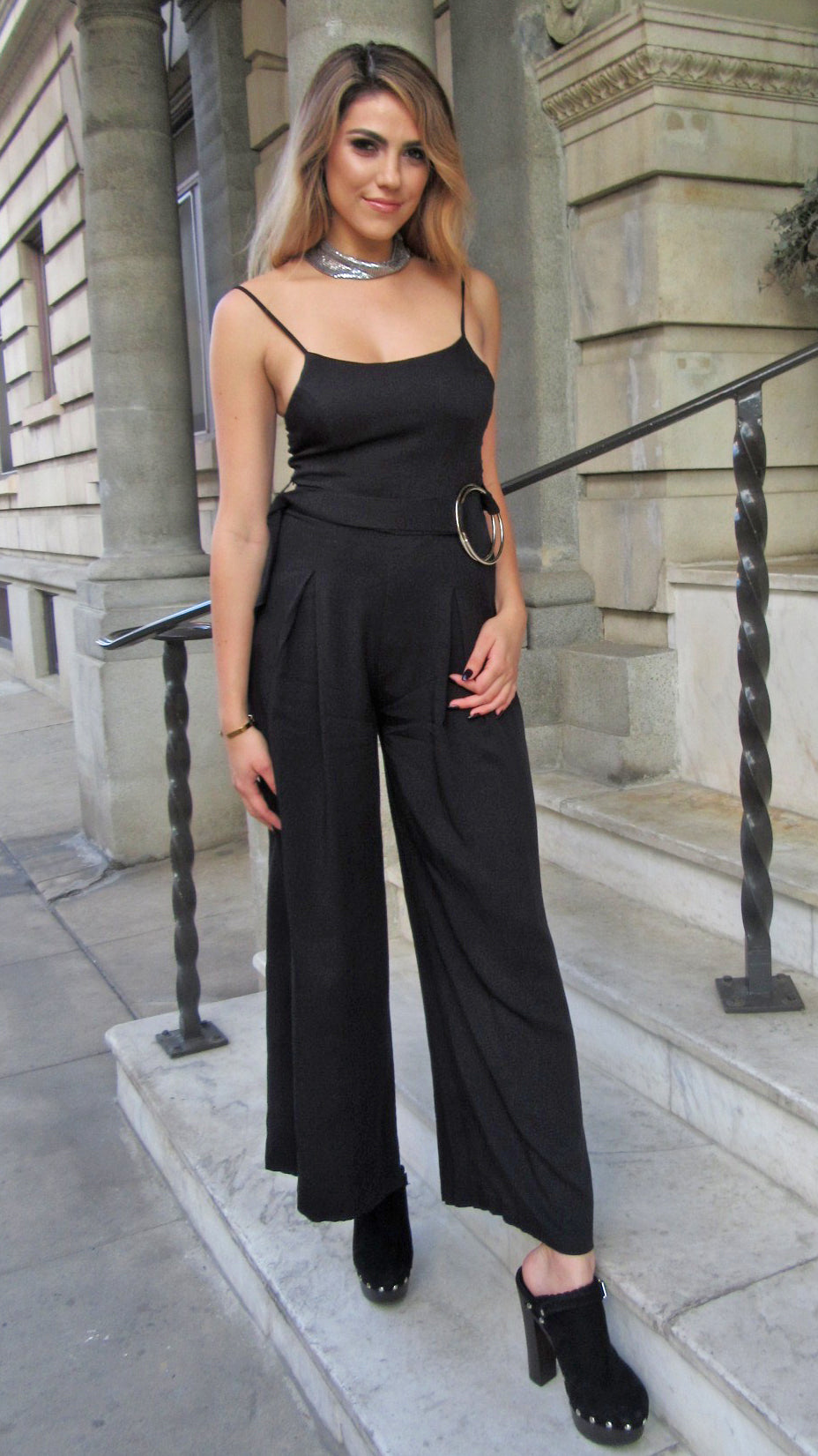 Cloutier Belted Jumpsuit