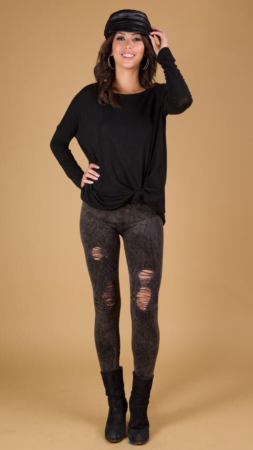Anarchy Distressed Leggings