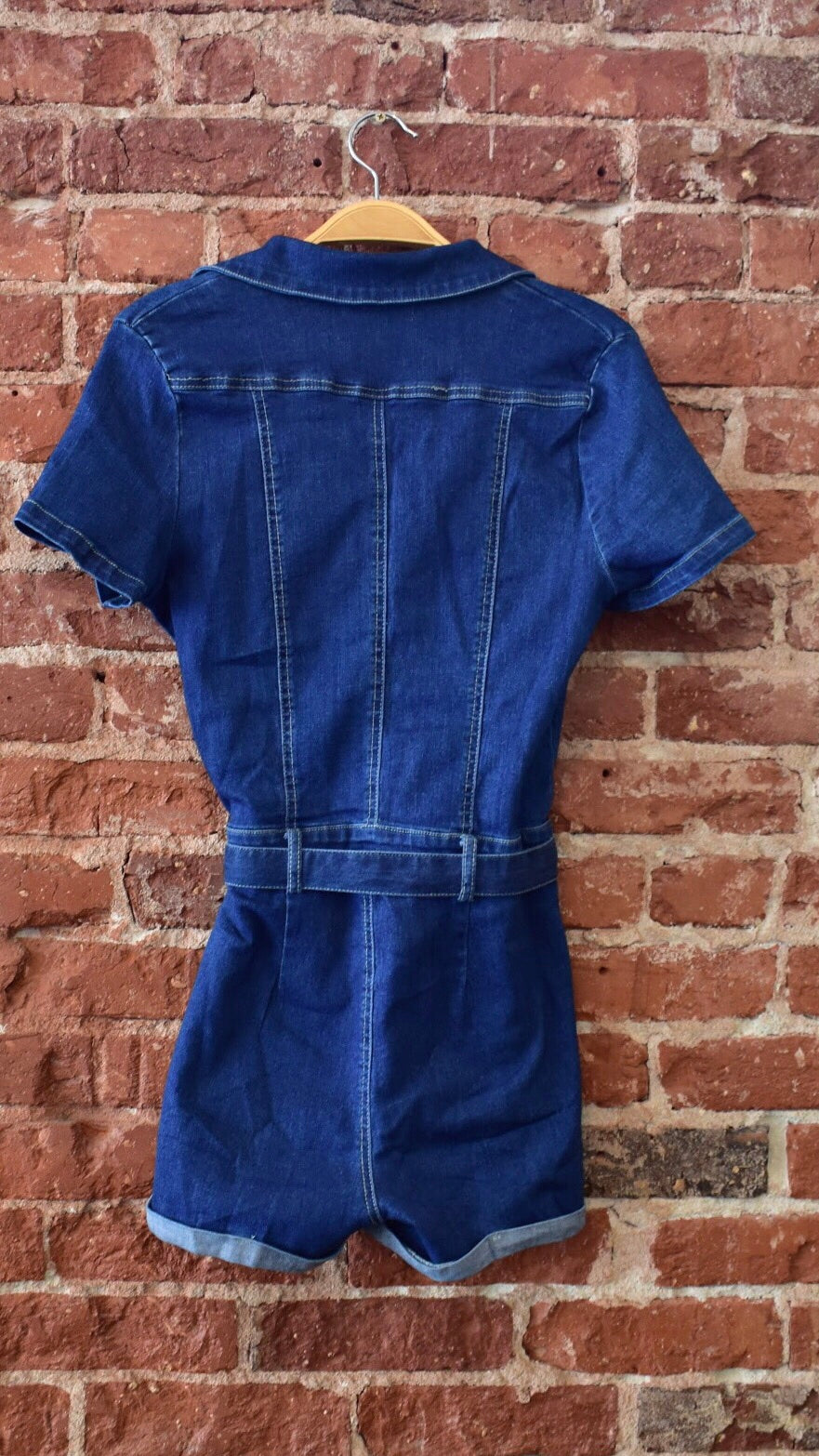 Audrey Denim Romper