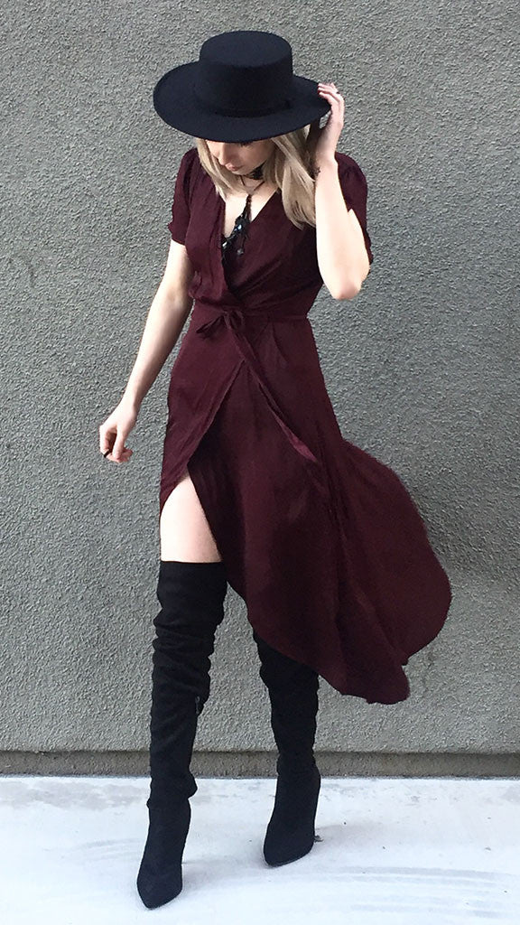 Fetish Wrap Maxi Dress