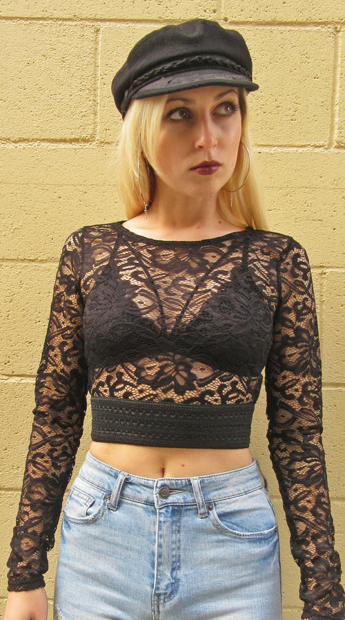 Delany Lace Crop Top