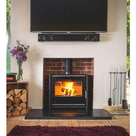 Arada I600 Slimline Freestanding Low (Midnight) - Stoves World Ltd