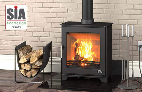 Arada i600 Slimline Freestanding Low Multi Fuel / Woodburning Stove
