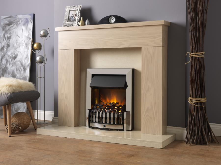 Danville Chrome Opti-myst Electric Inset fire - Stoves World Ltd