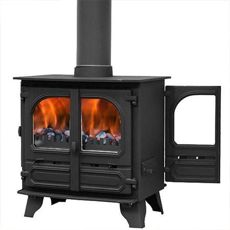 Dunsley Highlander 8 Double Sided Multi Fuel / Wood Burning Stove - Stoves World Ltd