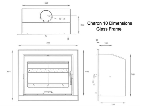 FDC Charon 10G Inset Stoves ( Phone for a Price ) - Stoves World Ltd