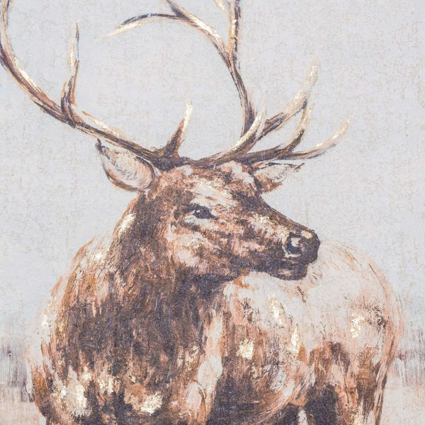 Large Stag On Cement Board With Frame - Stoves World Ltd