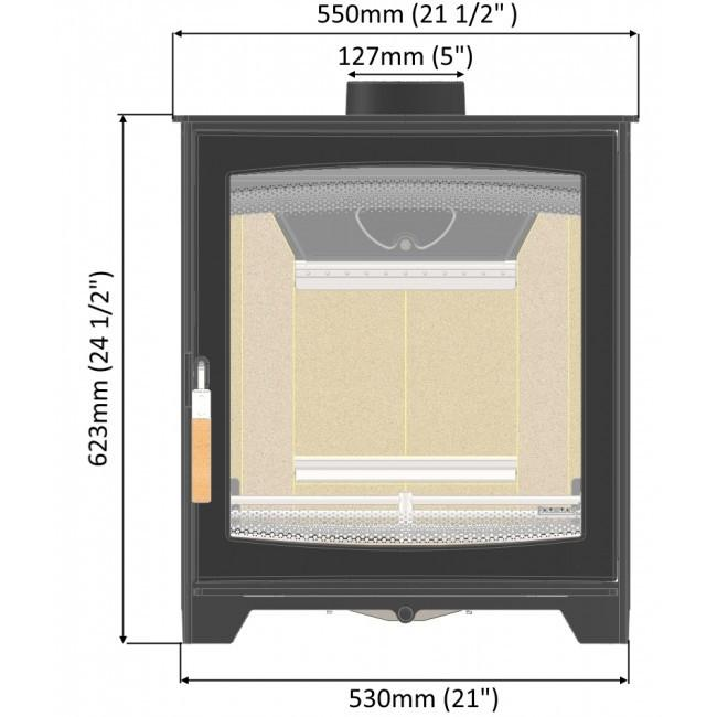 Parkray ASPECT 5 SLIMLINE - IN STOCK FREE DELIVERY - - Stoves World Ltd