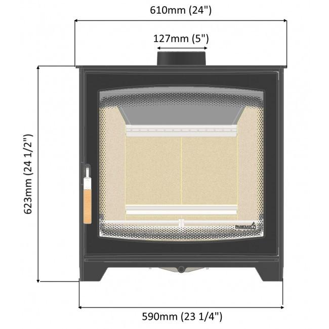 PARKRAY ASPECT SLIMLINE 8 WOODBURNING STOVE - Stoves World Ltd