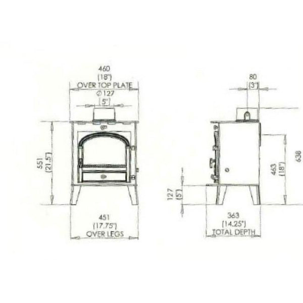 Parkray Consort 5 Compact - Stoves World Ltd