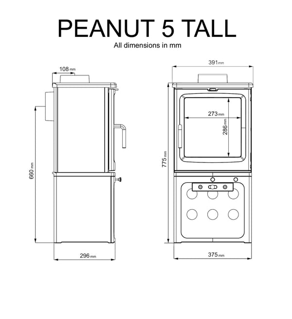 Peanut 5 Tall - Stoves World Ltd