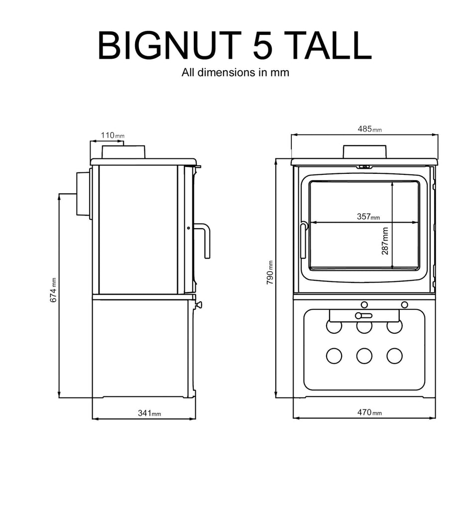 Peanut Bignut 5 Tall - Stoves World Ltd