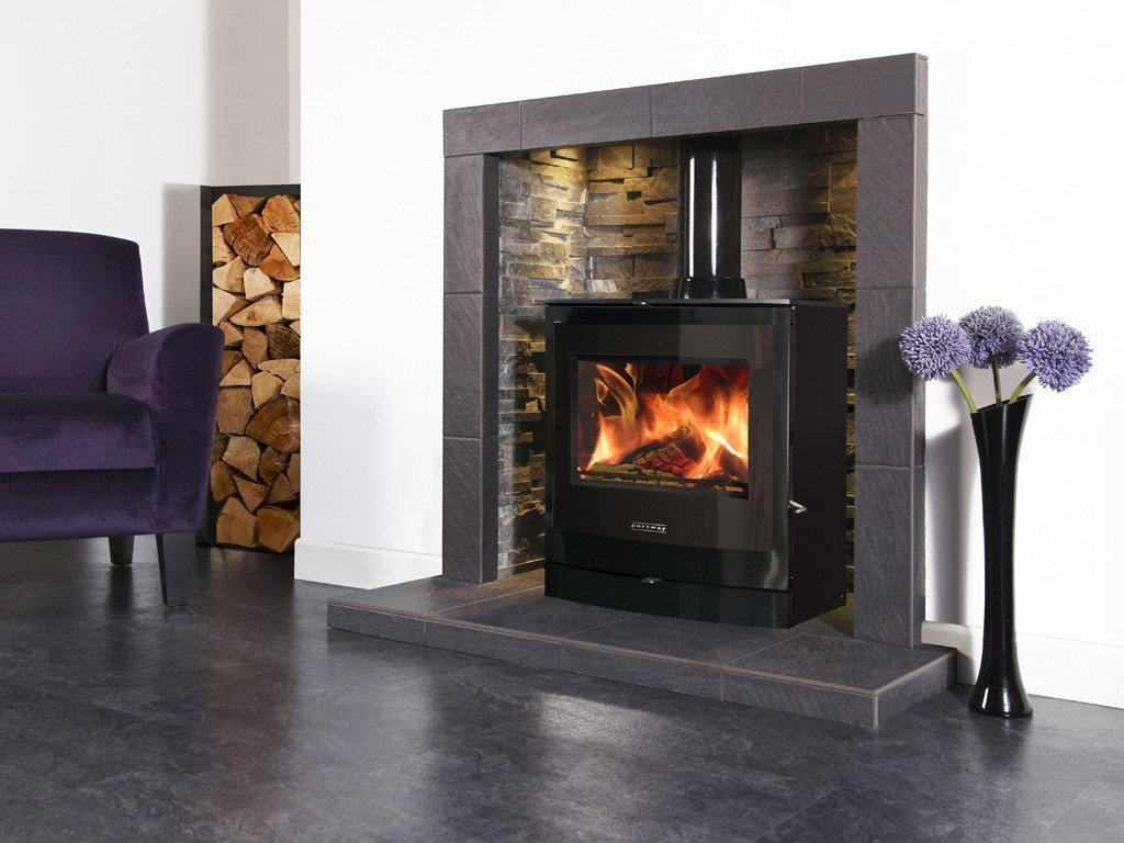 Portway 2 Curved Glass Multifuel Stove - Stoves World Ltd