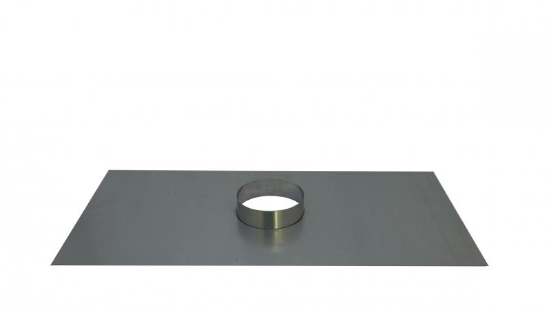 Register Plate With 155mm Diameter Collar - 450mm x 900mm - With Support Angles - Stoves World Ltd