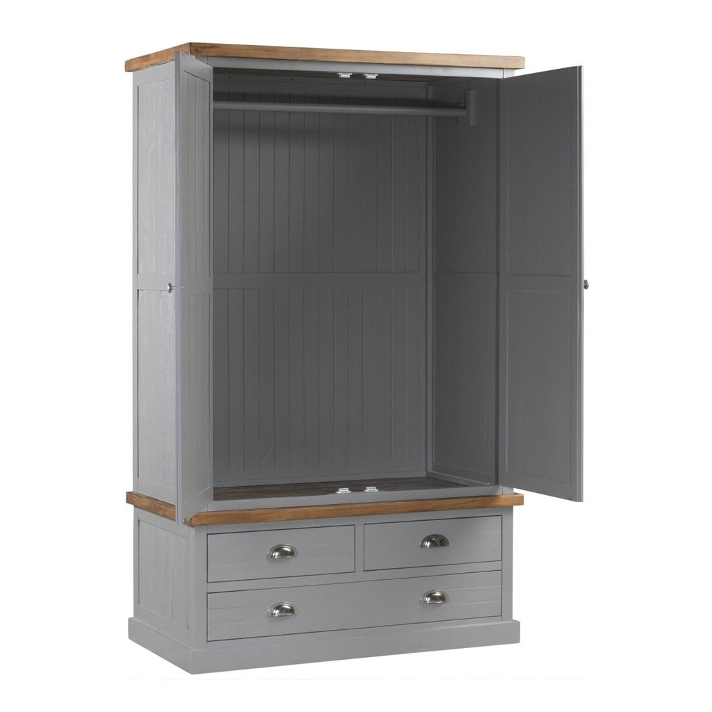The Byland Collection Three Drawer Two Door Wardrobe - Stoves World Ltd