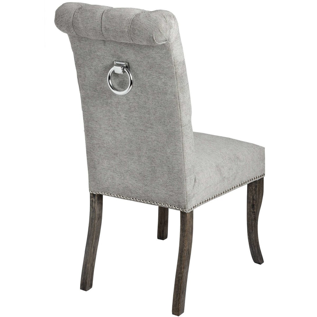 This is the Silver Roll Top Dining Chair With Ring Pull - Pair - Stoves World Ltd