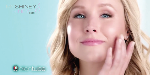 Kristen Bell in her very own My Shiney Hiney Commercial