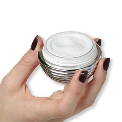 Whitening Cream - My Shiney Hiney Pump Jar Lightening Cream in Hand