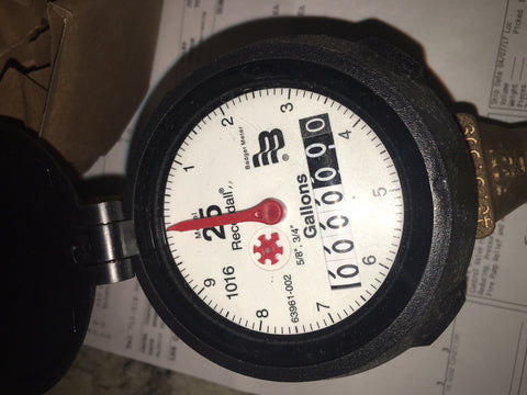 "Meter 5/8 x 3/4 Meter Leaded Bronze (GPM), 3/4"" Meter Coupling Gaskets Included"