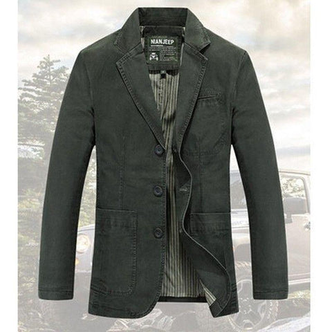 Blazer Masculino Importado Plus Size Party-army green - Roupas & Moda