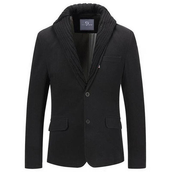 Blazer Masculino Importado Single Breasted Premium-Black - Roupas & Moda