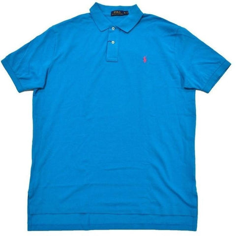 Camisa Polo Ralph Lauren Masculina Classic Fit Blue Pink- - Roupas & Moda