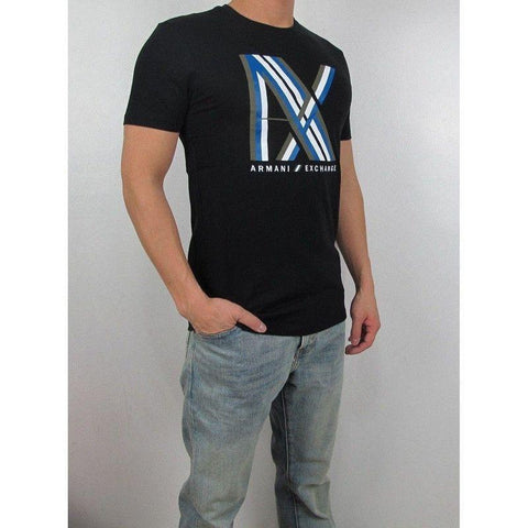 Camiseta Armani Exchange Masculina Black Big Chest- - Roupas & Moda