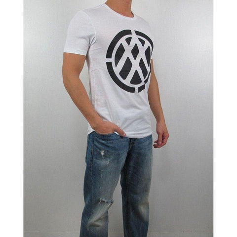 Camiseta Armani Exchange Masculina Branca Space Double- - Roupas & Moda